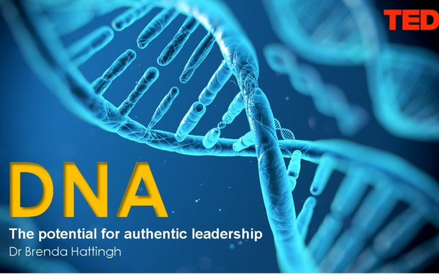 TEDx Talk. DNA – Potential for Authentic Leadership