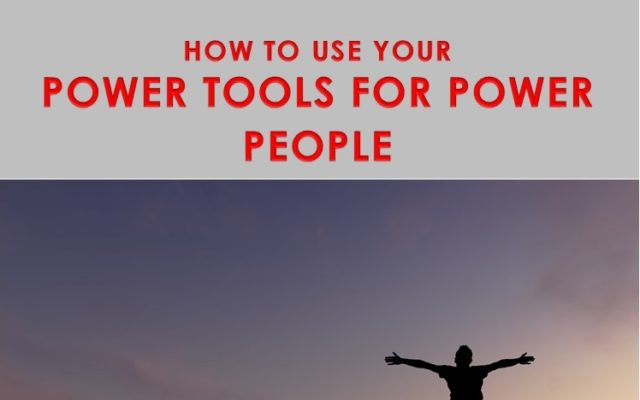 Free E-book. How to use Power Tools for Power People